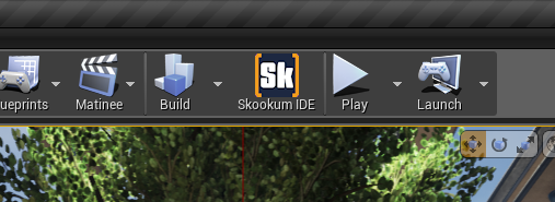 Sk on the UE4 editor toolbar